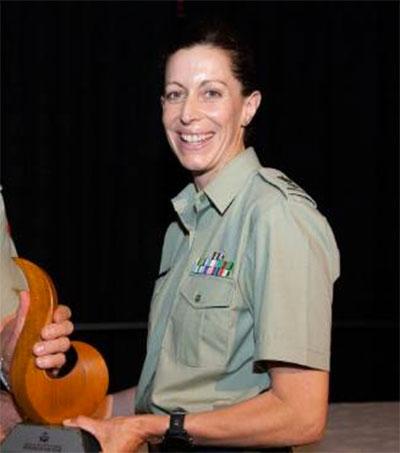 Courageous Soldier Melanie Childs Awarded