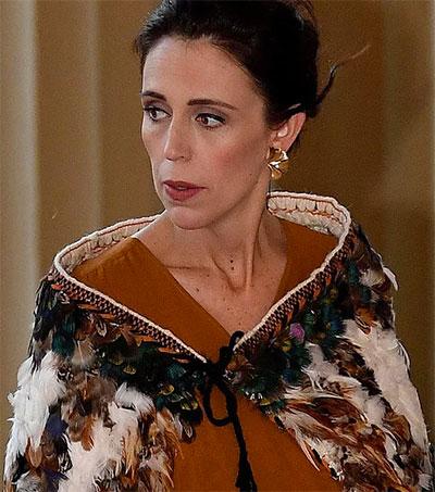 Jacinda Ardern Wears Korowai to Meet the Queen
