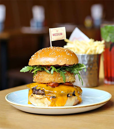 Head to Covent Garden's GBK on Maiden Lane