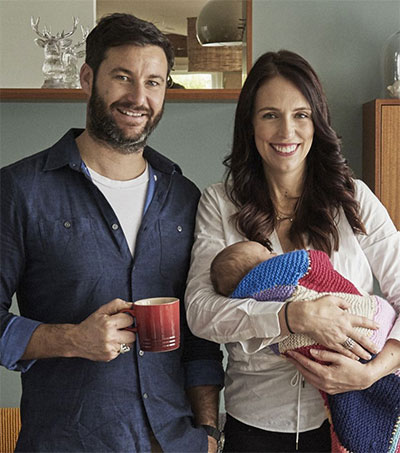 Jacinda Ardern Returns to Work with Neve in Tow