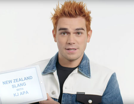 KJ Apa Teaches You New Zealand Slang