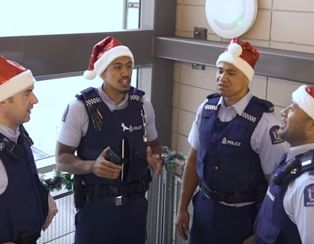 NZ Police Sing Christmas Carols