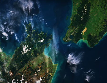 Earth from Space – New Zealand