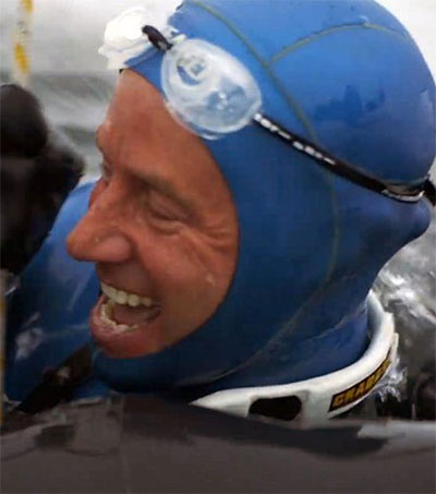 Icy World Record for Diver Ant Williams