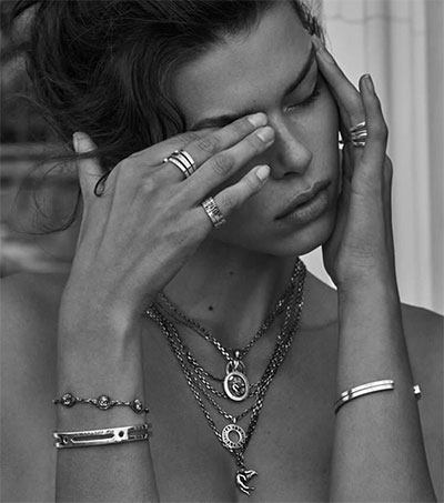 Georgia Fowler Models for Anwar Hadid Jewellery