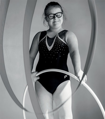 Gymnast Ruby Hamilton In Training for Olympics