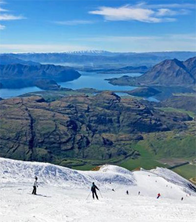 Treble Cone Skiing is Magic for Europeans