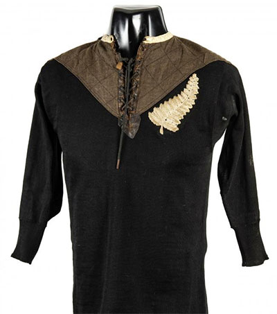 1905 All Blacks Shirt to be Auctioned in UK