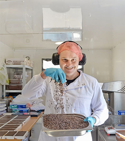 Touring Neil Robson's Rebel Chocolate Factory