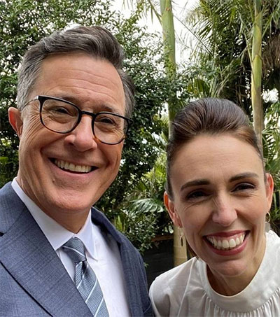 New Zealand Hosts US Comedian Stephen Colbert