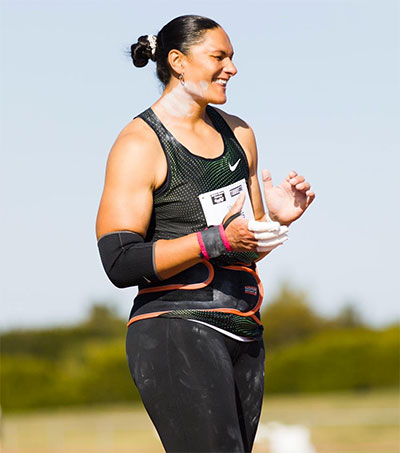 Shot Put Champ Valerie Adams off to Olympics