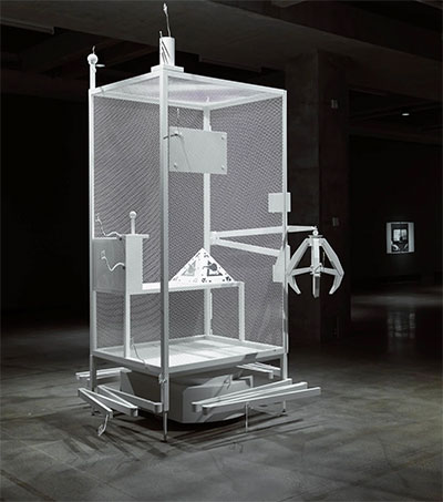 Simon Denny Exhibits Amazon Cage in San Francisco