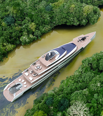 Kiwa is Isaac Burrough's Sustainable Superyacht