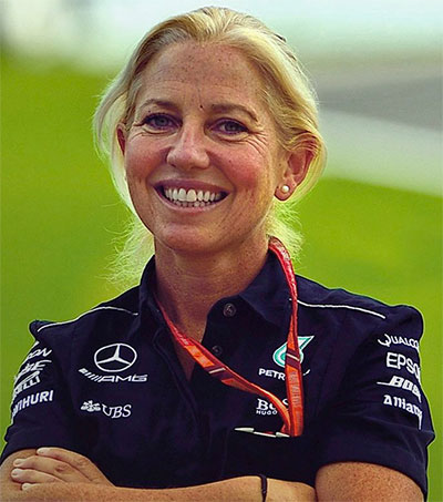 Lewis Hamilton's Physio Sidekick is Angela Cullen
