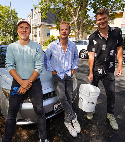 Chalmers Brothers Promote Band With Car Wash