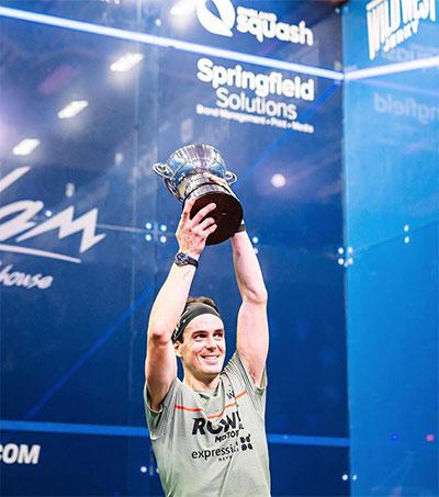 Squash Player Paul Coll Wins Historic British Title