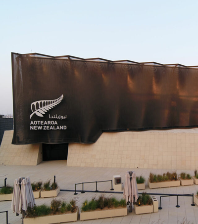 Kinetic Façade Brings NZ Pavilion To Life At Expo 2020